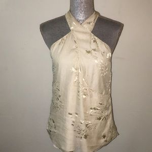 NWOT Haute Hippee cream silk blouse